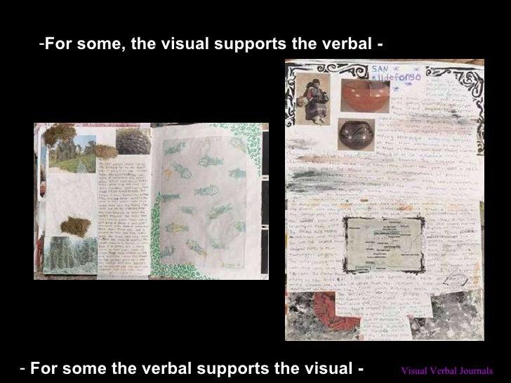 <ul><li>For some, the visual supports the verbal - </li></ul><ul><li>For some the verbal supports the visual - </li></ul>