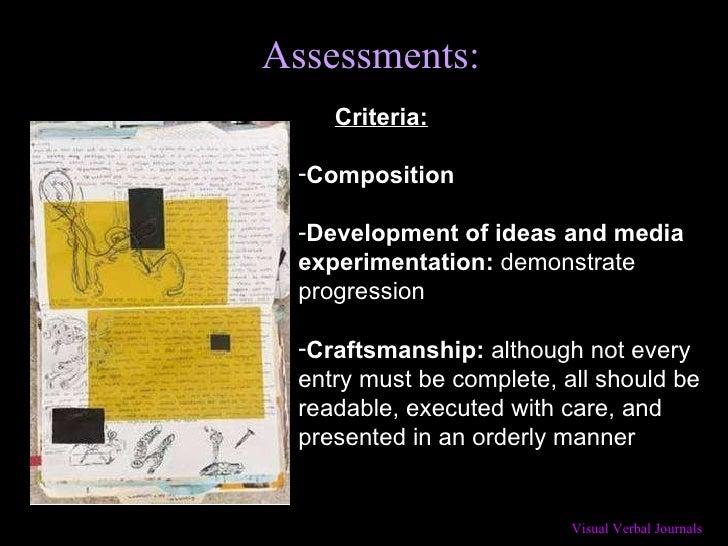 Assessments: <ul><ul><li>Criteria: </li></ul></ul><ul><li>Composition </li></ul><ul><li>Development of ideas and media exp...