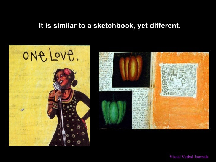 It is similar to a sketchbook, yet different.