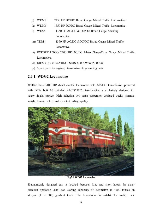 Summer Training Report,DIESEL LOCOMOTIVE WORKS,VARANASI(DLW)