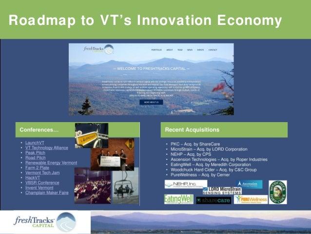 Roadmap to VT's Innovation Economy
