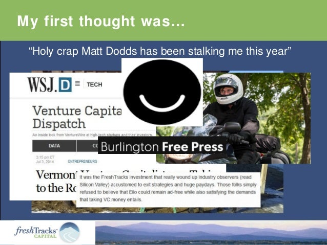 """My first thought was… """"Holy crap Matt Dodds has been stalking me this year"""""""