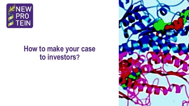 How to make your case to investors? 1