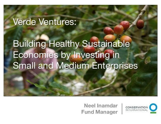 Verde Ventures:Building Healthy SustainableEconomies by Investing inSmall and Medium Enterprises                          ...