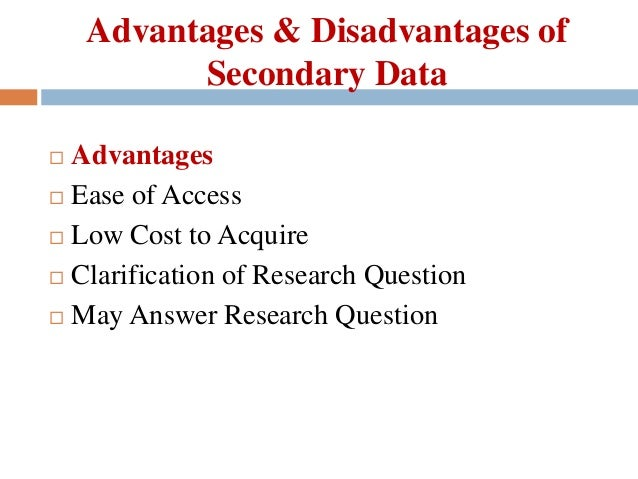 secondary data collection Secondary data analysis refers to the analysis of existing data collected by others secondary analysis affords researchers the opportunity to investigate research.