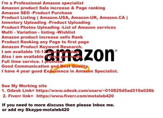 Amazon product Ranking & Amazon SEO