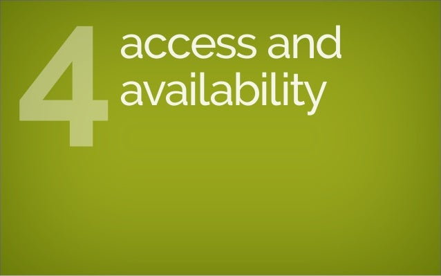 access and availability4