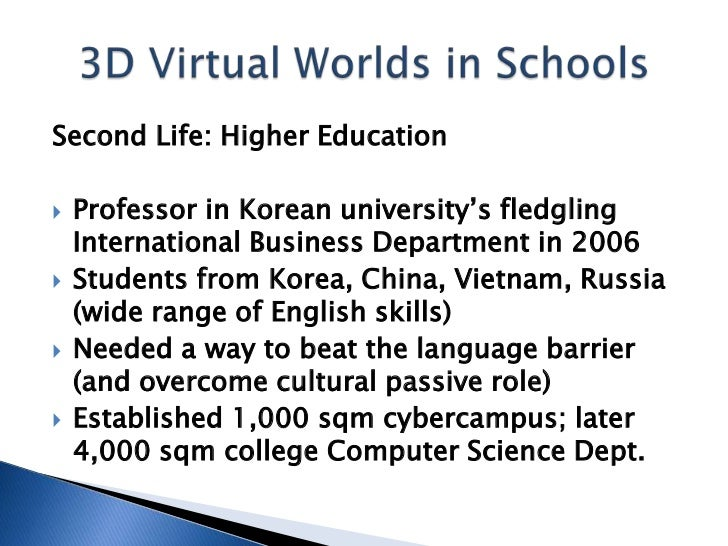Vwbpe best practices showcase 3d virtual worlds in k 12internatio second life higher ed 10 fandeluxe Gallery