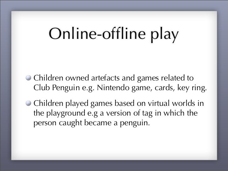 Young children and virtual worlds