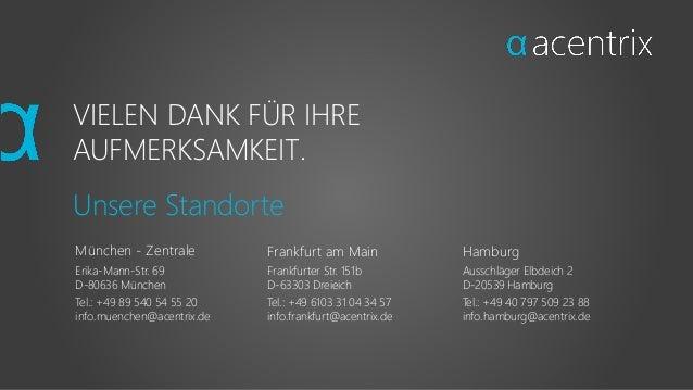 Hamburg Ausschläger Elbdeich 2 D-20539 Hamburg Tel.: +49 40 797 509 23 88 info.hamburg@acentrix.de Frankfurt am Main Frank...