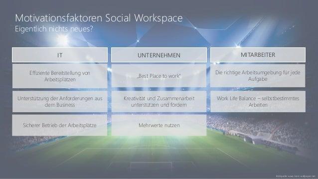 """Motivationsfaktoren Social Workspace Eigentlich nichts neues? Effiziente Bereitstellung von Arbeitsplätzen """"Best Place to ..."""