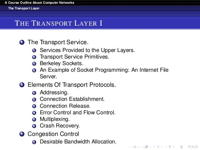 A Course Outline About Computer Networks