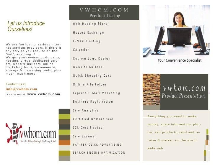 V W H O M .C O M                                                    Product Listing Let us Introduce                      ...