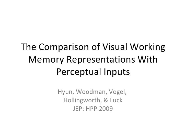 The Comparison of Visual Working Memory Representations With Perceptual Inputs Hyun, Woodman, Vogel,  Hollingworth, & Luck...