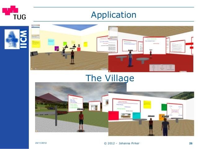 Application © 2012 - Johanna Pirker23/11/2012 26 The Village