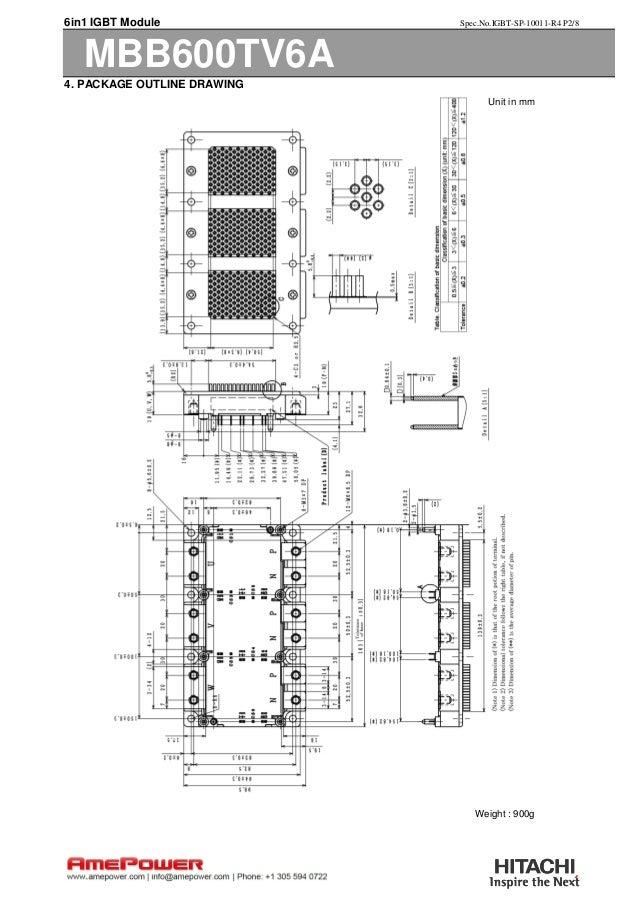 Hitachi's Service Proven Automotive IGBT MBB600TV6A at