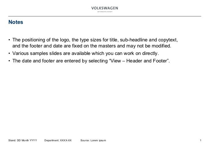 Notes <ul><ul><li>The positioning of the logo, the type sizes for title, sub-headline and copytext,  and the footer and da...