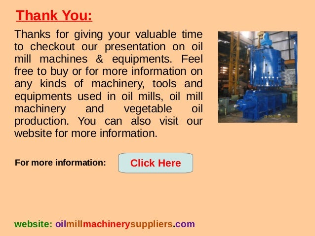 Groundnut Oil Milling Machine