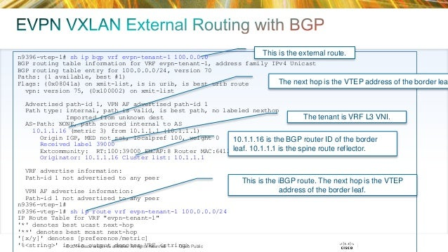 Vxlan control plane and routing