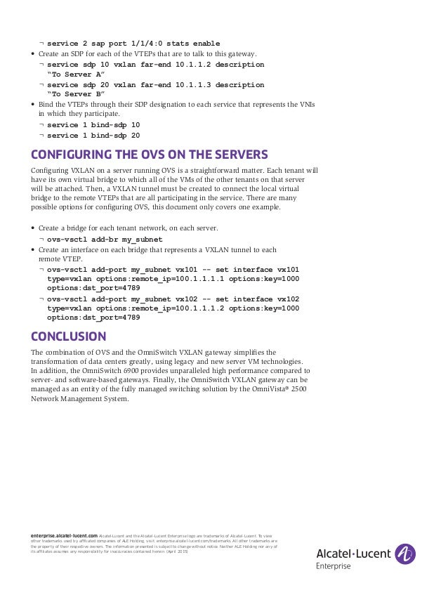 VXLAN Gateway Use-Case: Connecting servers with the Open Virtual Swit…