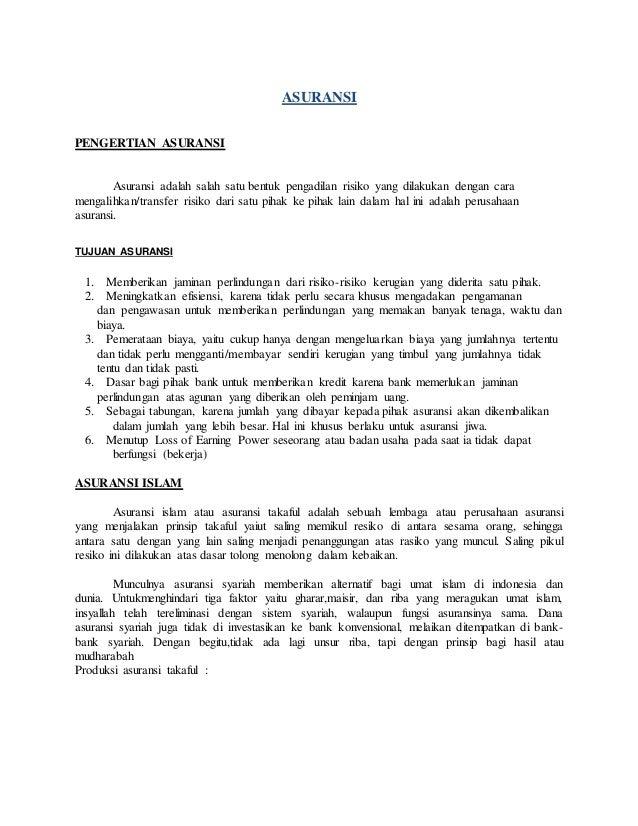 Riba Bank Dan Asuransi Dalam Pandangan Islam Dialog Ilmu