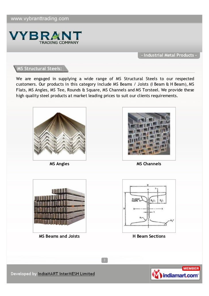 Vybrant Trading Company, Mumbai, Industrial Metal Products  Slide 3