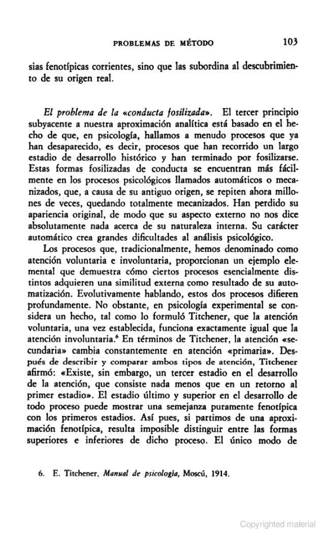 EL DESARROLLO DE LOS PROCESOS PSICOLOGICOS SUPERIORESVygotsky