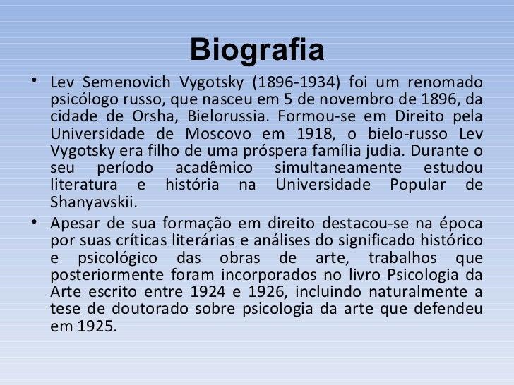 Vygotsky e a teoria sociohistórica Slide 2