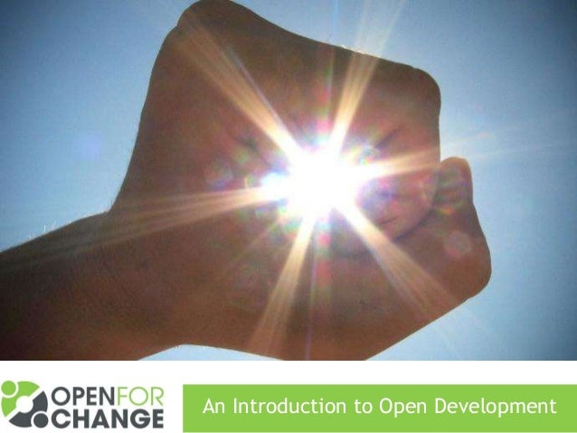 An Introduction to Open Development