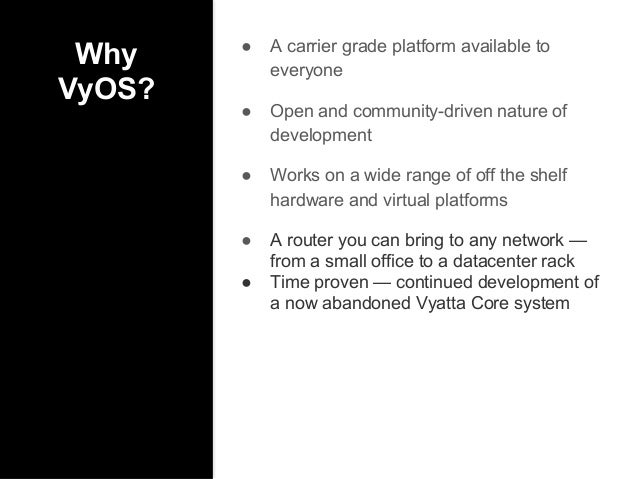VyOS OPEN SOURCE NETWORK OS for routers