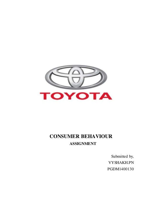 Consumer Behavior of Toyota