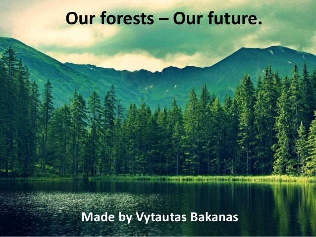 Our forests – Our future. Made by Vytautas Bakanas