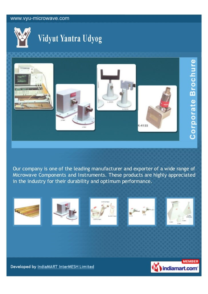 Our company is one of the leading manufacturer and exporter of a wide range ofMicrowave Components and Instruments. These ...