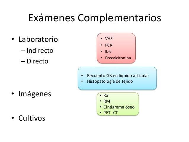 Exámenes Complementarios • Laboratorio – Indirecto – Directo • Imágenes • Cultivos • VHS • PCR • IL-6 • Procalcitonina • R...
