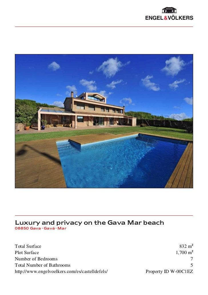 Luxury and privacy on the Gava Mar beach08850 Gava · Gavá · MarTotal Surface                                              ...