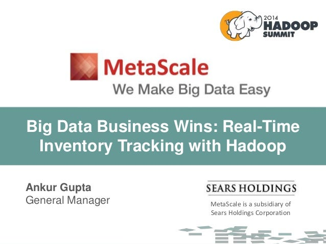 MetaScale is a subsidiary of Sears Holdings Corporation MetaScale is a subsidiary of Sears Holdings Corporation Ankur Gupt...