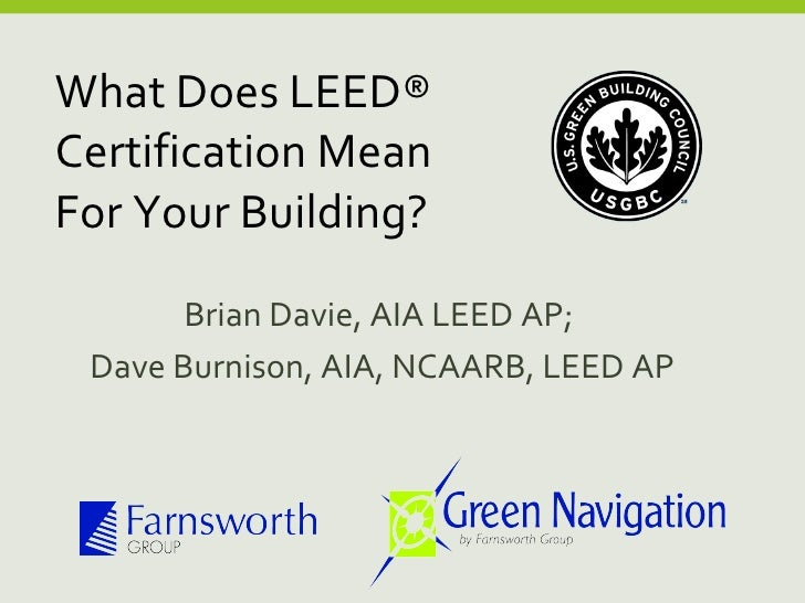 What does leed certification mean for your building for What is leed