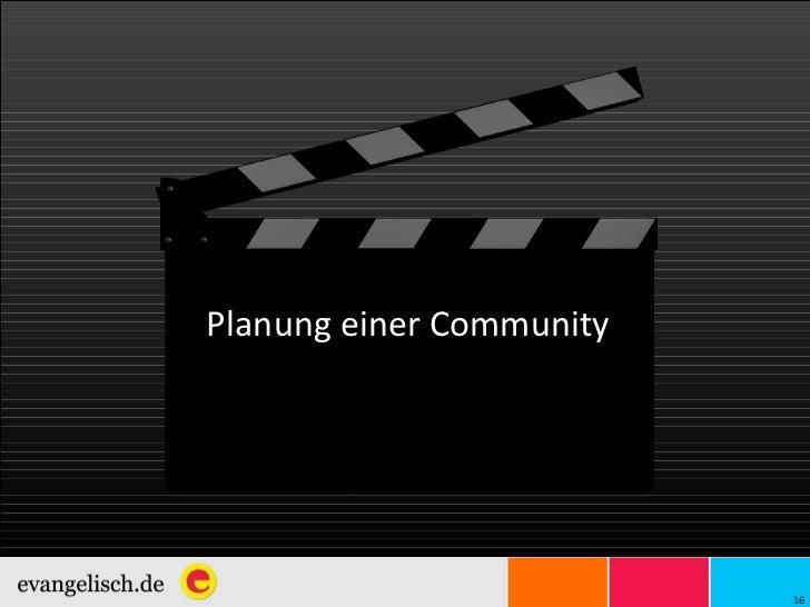 Planung einer Community