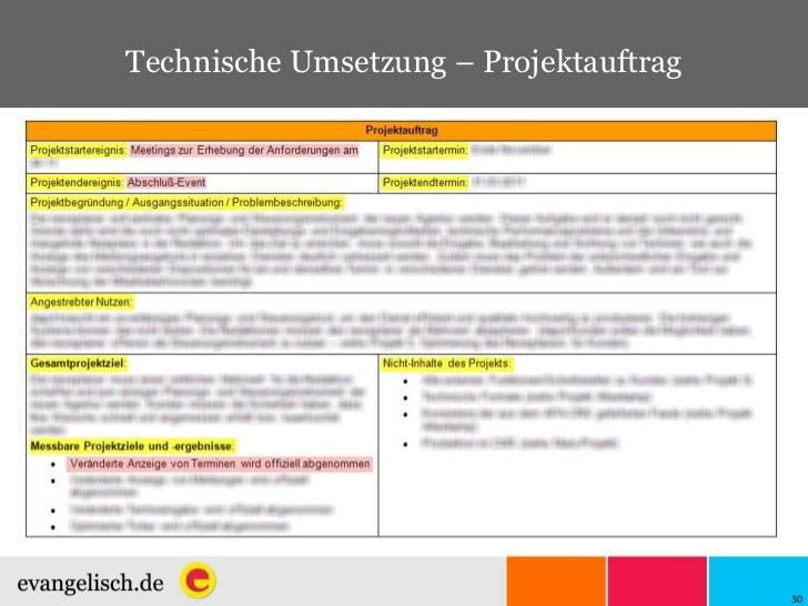 Technische Umsetzung – Projektauftrag