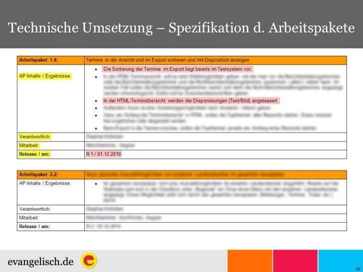 Technische Umsetzung – Spezifikation d. Arbeitspakete