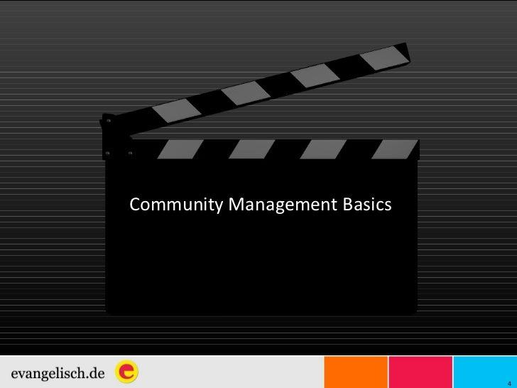 Community Management Basics