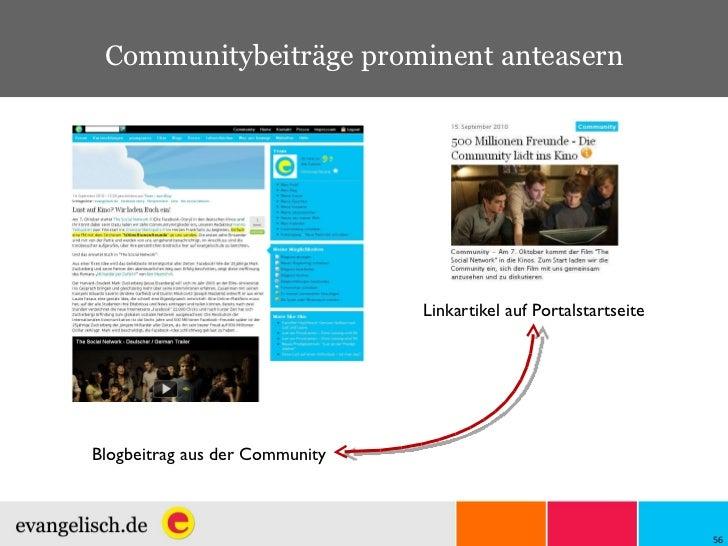 Blogbeitrag aus der Community Linkartikel auf Portalstartseite Communitybeiträge prominent anteasern