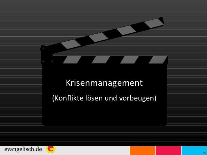 Krisenmanagement (Konflikte lösen und vorbeugen)