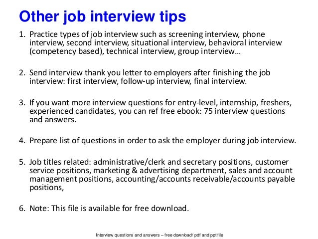 Interview Questions ...
