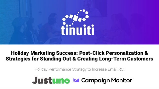 Name of Presentation Subtitle goes here if necessary Holiday Marketing Success: Post-Click Personalization & Strategies fo...