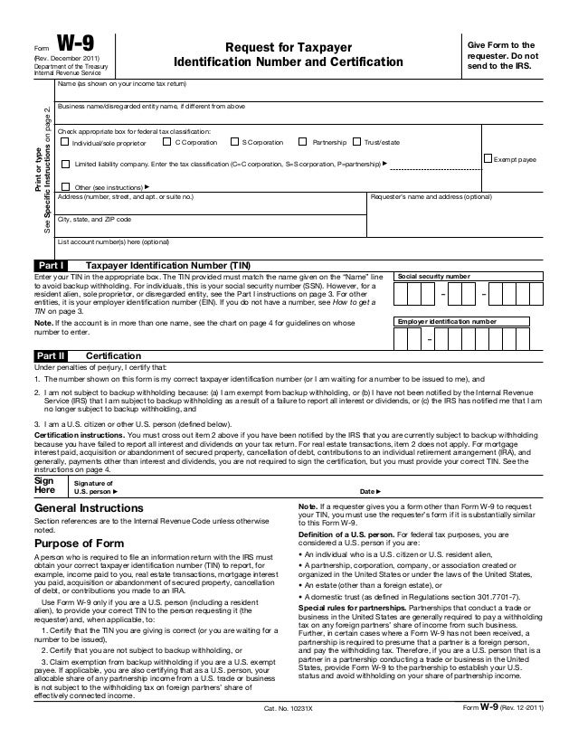 W 9 Irs Form Choice Image Free Form Design Examples
