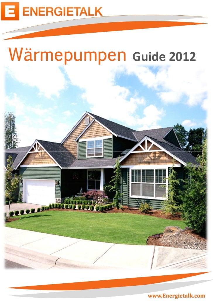 Wärmepumpen   Guide 2012        -0-                www.Energietalk.com