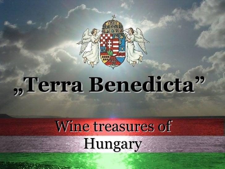 """ Terra Benedicta"" Wine treasures of Hungary"