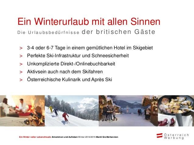 Ein Winter voller Lebensfreude Ankommen und Aufleben Winter 2014/2015 Markt Großbritannien > Meist verheiratet, Paare und ...