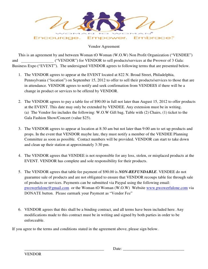 W.O.W Gala Vendor Agreement Final
